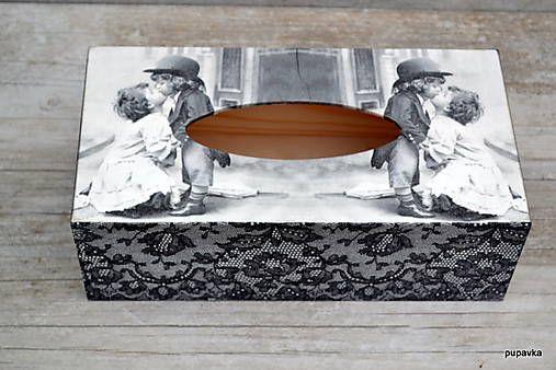 Bozkávajúce sa dietky / Pupavkashop - SAShE.sk - Handmade Krabičky