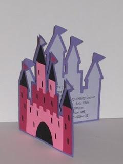 princess castle party invite using Cricut Once Upon a Princess