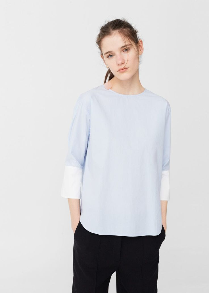 Cotton shirt -  Woman | MANGO United Kingdom