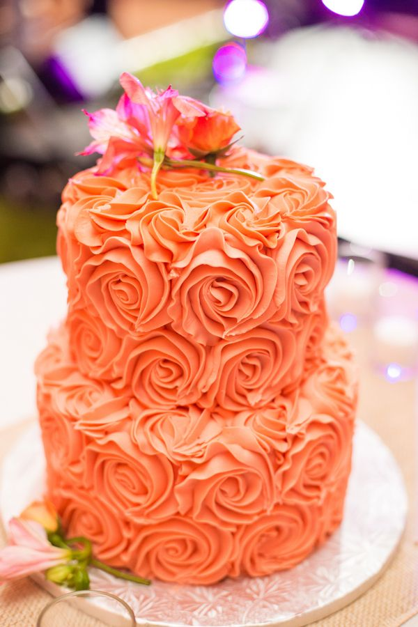 Rosette Wedding Cake {Photo by Shannon Cronin Photography via Project Wedding}