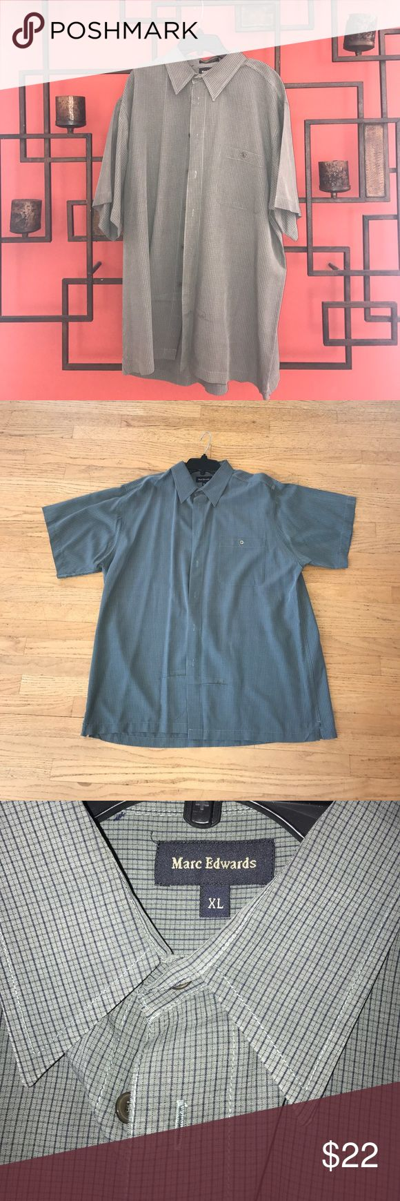 Marc Edwards Shirt! This shirt is very comfortable, and still remains stylish and simple. It's barely worn, like brand new! Dry cleaned as well! marc edwards Shirts