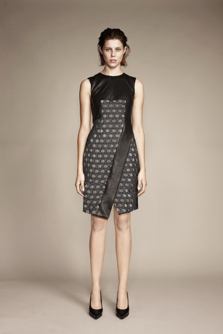 The Leather Brocade Dress