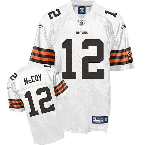 Reebok Cleveland Browns Colt McCoy 12 White Authentic Jerseys Sale