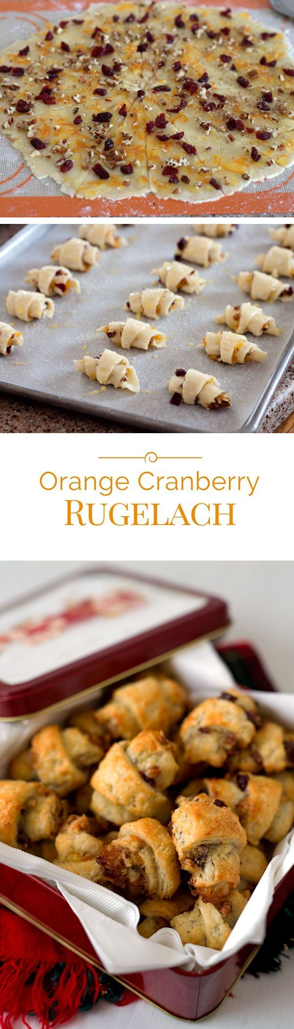 Orange Cranberry Rugelach | Recipe | Spreads, Pastries and ...