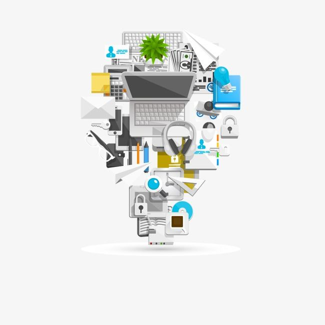 3D computer business element PNG Image