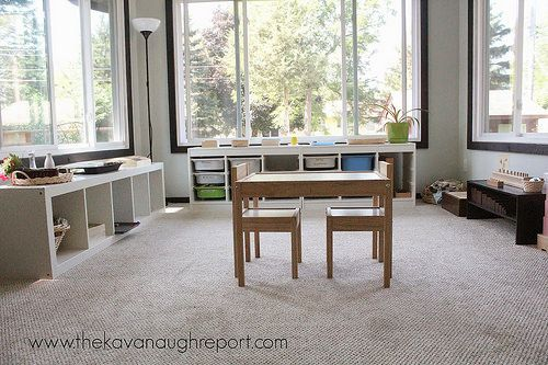 Montessori Homeschool Classroom (Photo from The Kavanaugh Report)