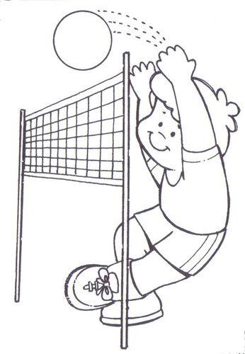 Dibujos De Volleyball. Simple Dibujos De Voleibol Para Colorear Y ...