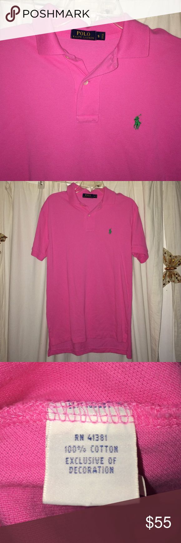 Like new men's hot pink polo shirt This polo has been worn and washed just once. Like new condition. By Polo Ralph Lauren. Offers considered. Polo by Ralph Lauren Shirts Polos