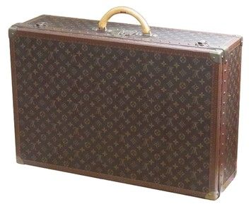 Louis Vuitton Hardsided Trunk Monogram Luggage France Brown Travel Bag.