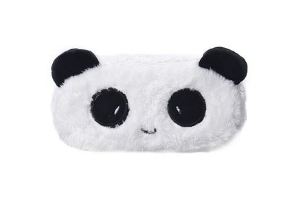 Lovely Panda Printed Plush Pencil Case
