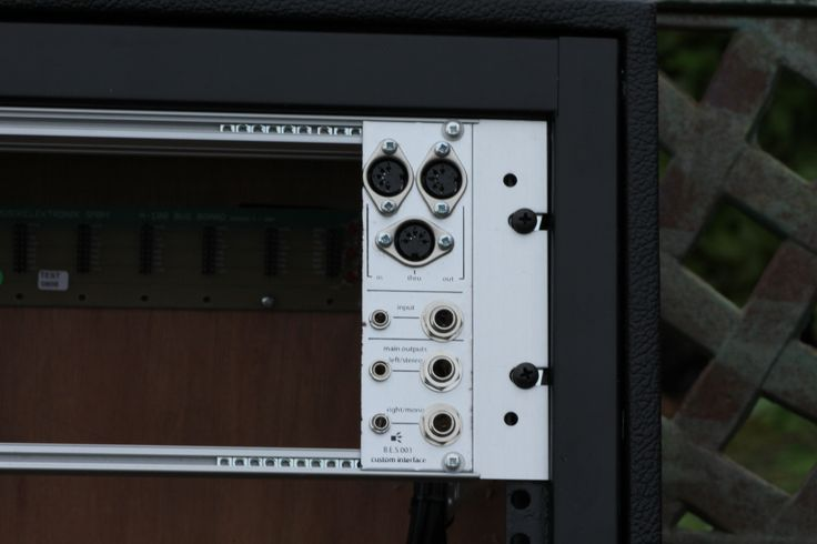 Midi interface panel for Eurorack synth. Built by Box Emissions Systems