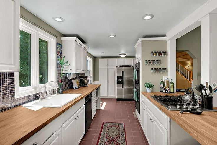My dream open galley kitchen home decor pinterest for Opening up a galley kitchen