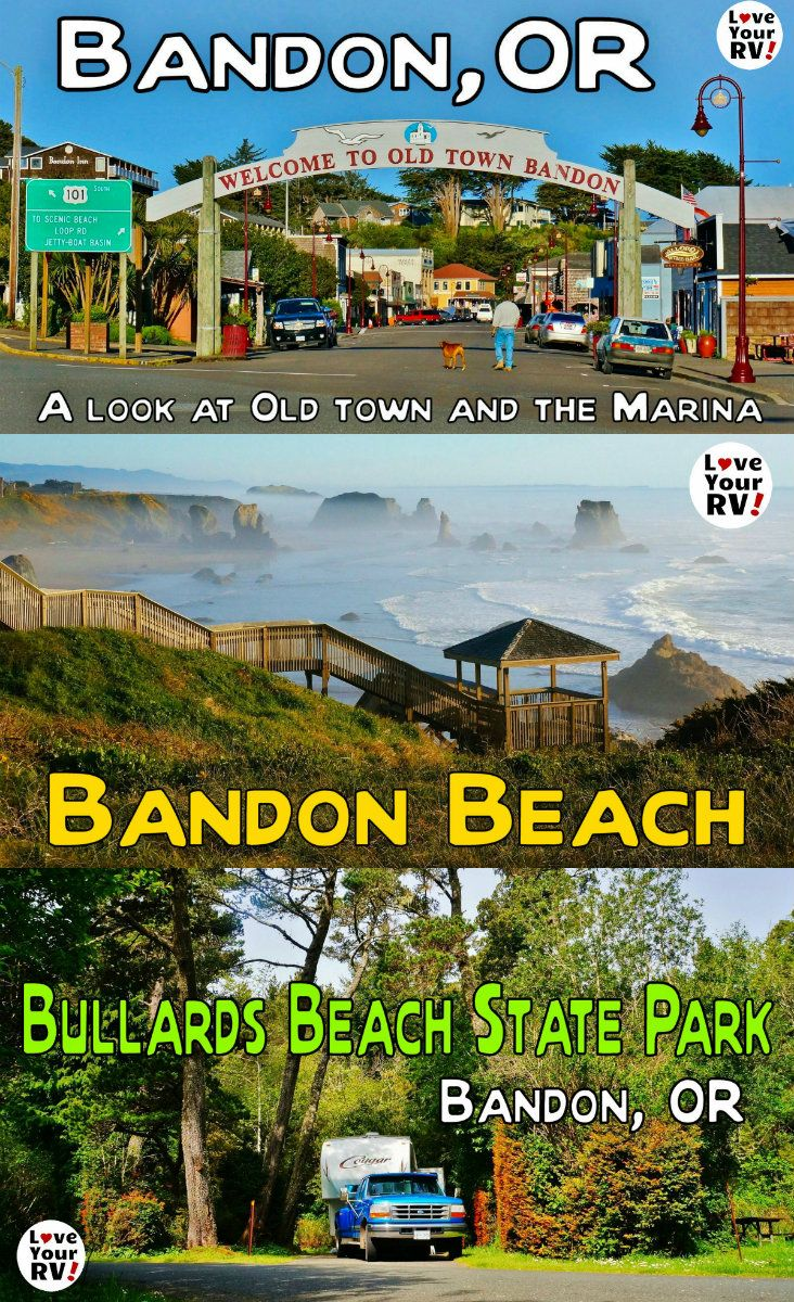 Visting Beautiful Bandon Beach on the Oregon Coast info, photos and videos from the Love Your RV blog - http://www.loveyourrv.com/ #RVing #snowbirds