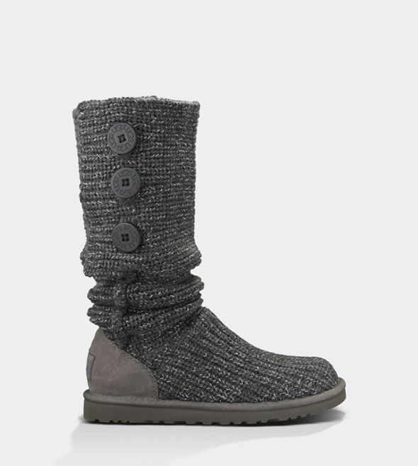 UGG CLASSIC CARDY METALLIC CHARCOAL/SILVER FOR WOMEN