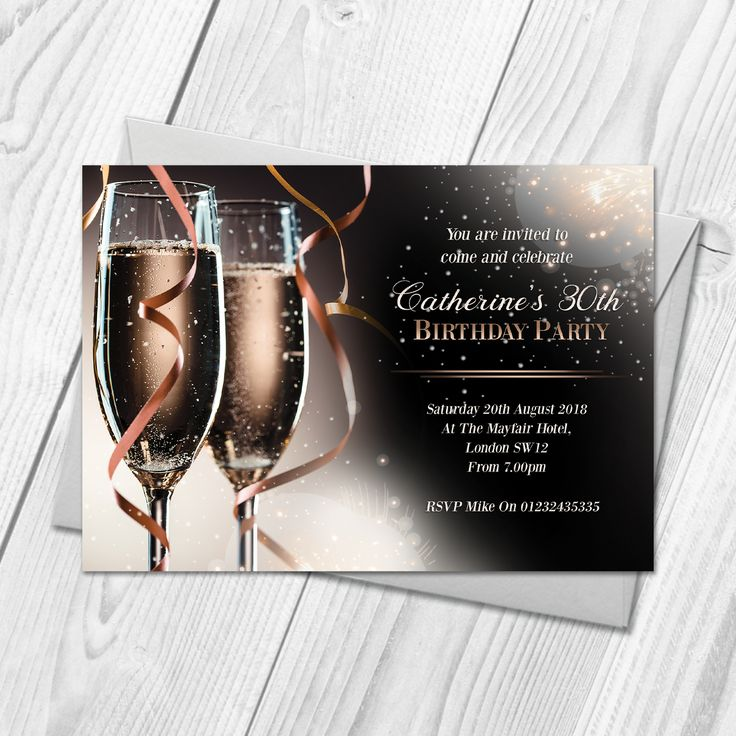 The 30 best Personalised Birthday Party Invitations images on Pinterest