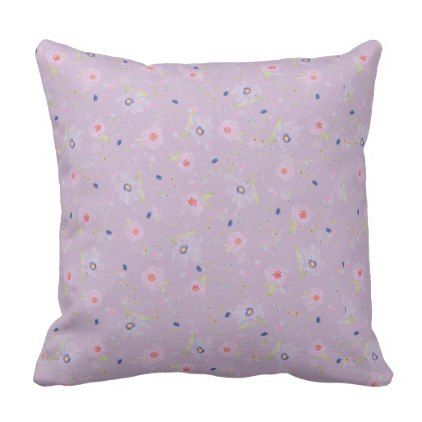 Floral Cushion - newborn baby gift idea diy cyo personalize family