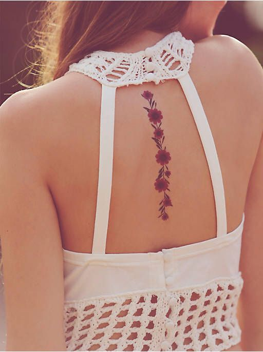 Free People Dried Flower Tattoos, $9.95