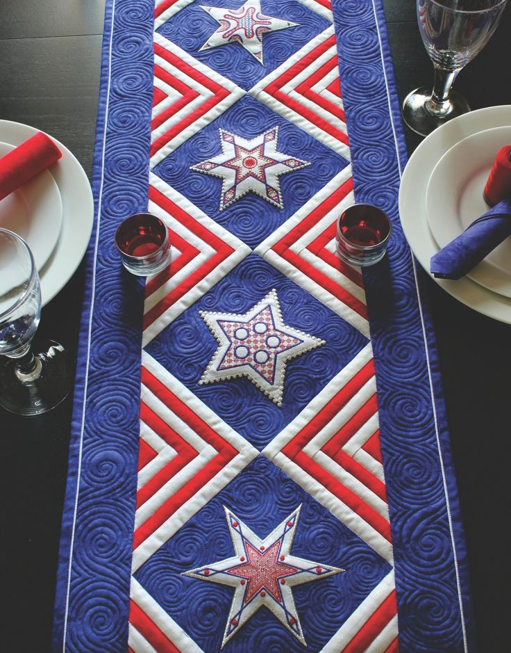 Star Quilt Embroidery Design : 10+ images about Patriotic embroidery for Quilts of Valor ...