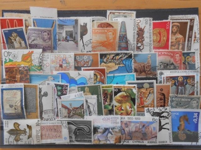 CYPRUS STAMPS LOT 50  DIFFERENT : USED STAMPS