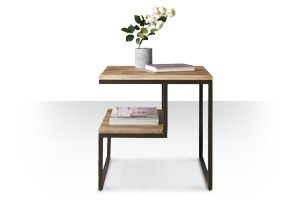 Ingenious magazine table....Swoon Editions Mid-century side table in mango wood