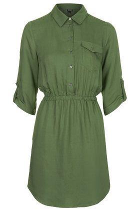 Utility Twill Shirt Dress