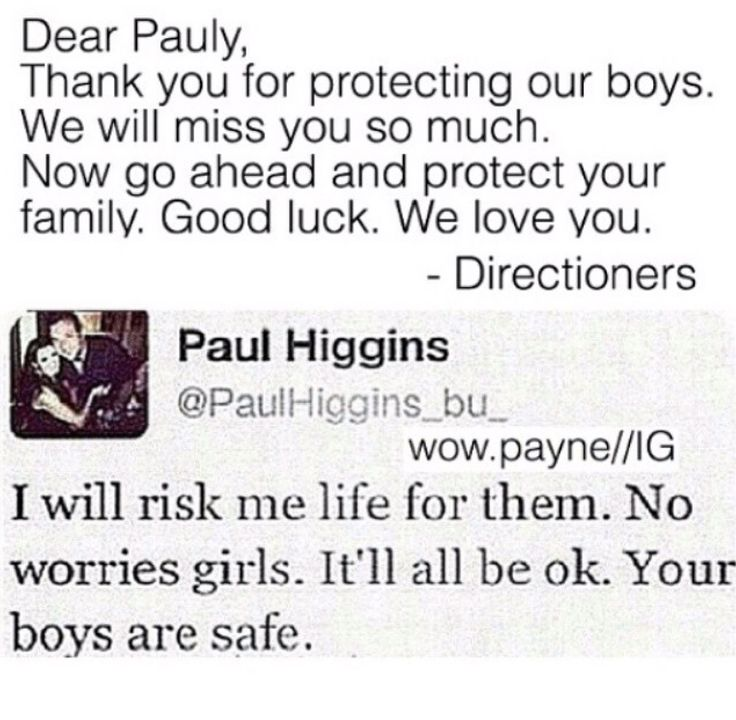 goodbye paul :( thank you for protecting our boys and  we love you. we consider you part of the fandom.