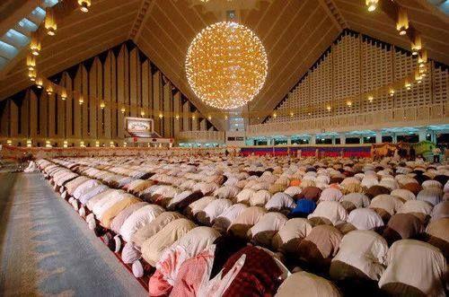 Faisal Masjid — in Islamabad.