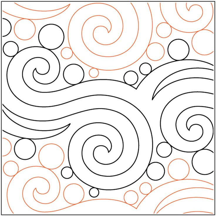 Quilt Stencils By Patricia Ritter Seafoam 10in