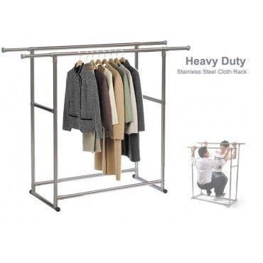 Adjustable Portable Clothes Rack DOUBLE