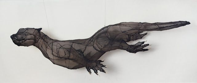 Eglantine Bacro, sculpture textile, art avec pantythose, art avec collants