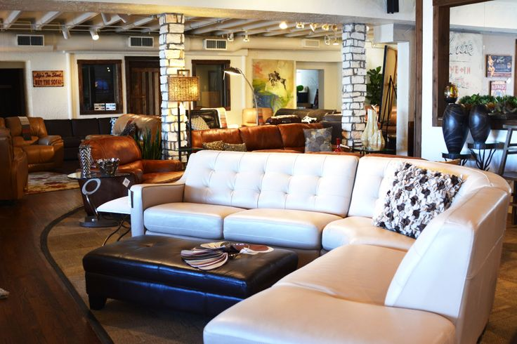 Great modern white sectional.