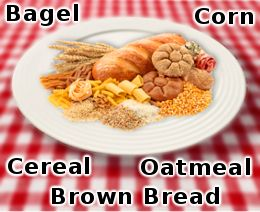 Foods with complex carbohydrates - large lists - good