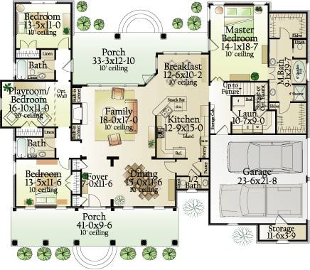 First Floor Plan image of Cross Creek House Plan....one of my favs- DIDN'T USE