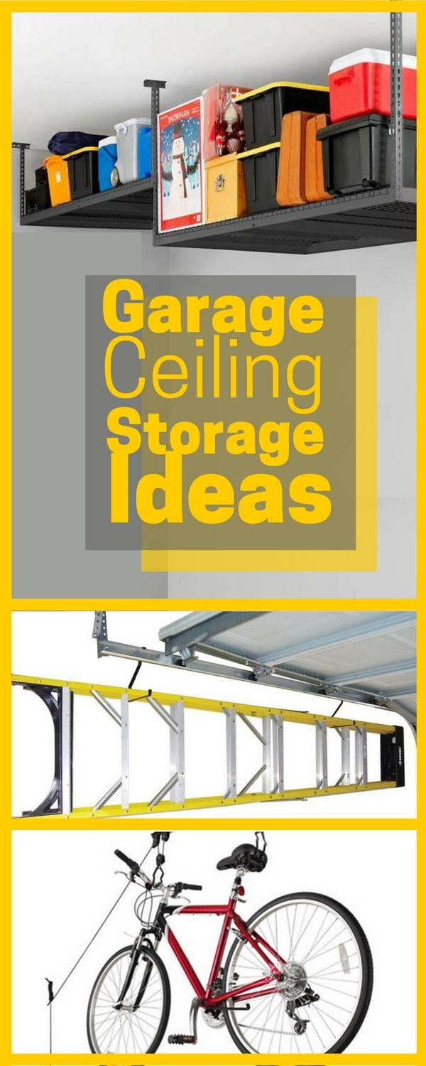Don't let the garage space above your head go to waste! Your garage ceiling is a great place to store building supplies, seasonal décor, outdoor furniture, sporting equipment and more. Make sure you maximize this space with some of these helpful products!