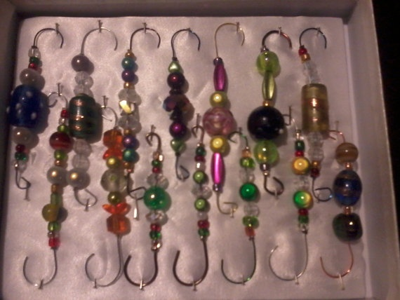 26 best Beaded Ornament Hooks images on Pinterest  Ornament hooks