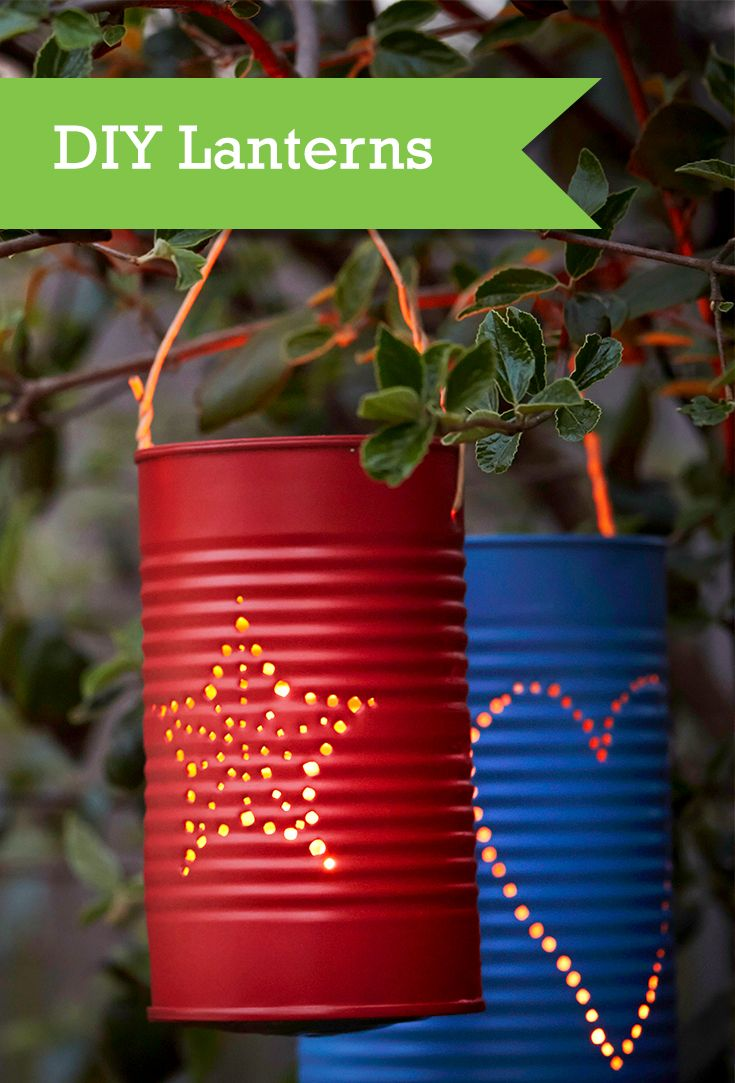 See how you can make 3 homemade lanterns from materials you have around the house. We'll take you through the simple process on converting old tin cans, paper bags and rustic Mason jars into brand new lighting for your outdoor space.