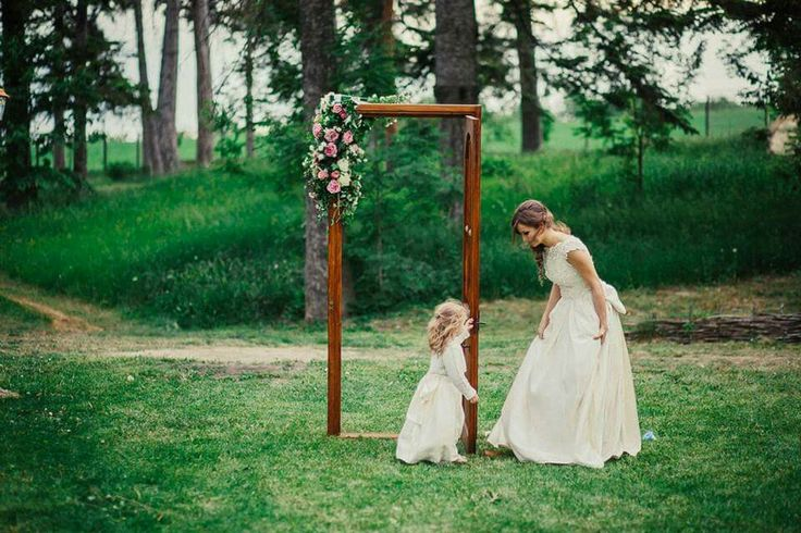 The bride. And the little lady.