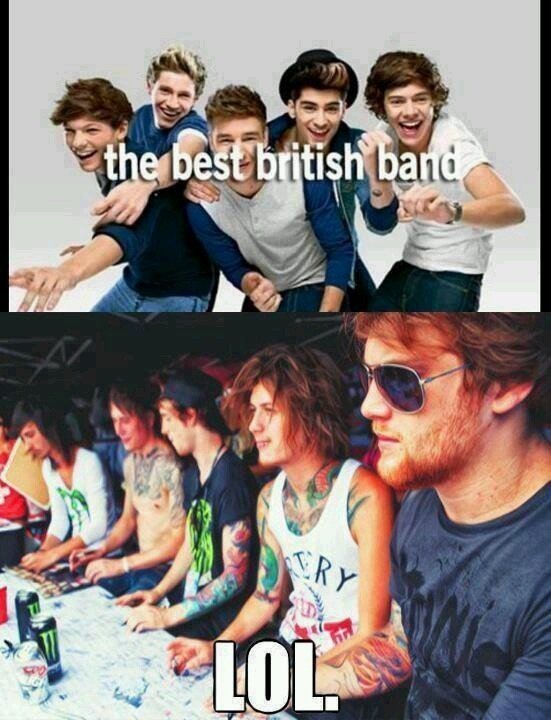 Asking Alexandria and Bring Me The Horizon are the best British bands by a mile!