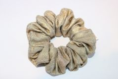TREAT YO SELF with this classic gold scrunchie.  #TreatYoSelf shopSEWco.com