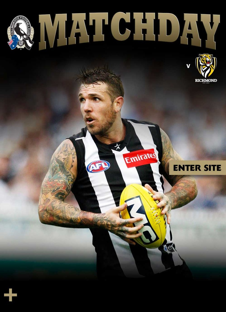 Match Day Collingwood FC - nice way to give the fans more in a lightweight site