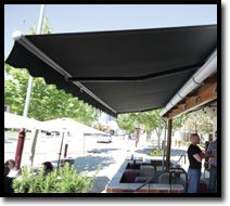 Folding Arm Awnings  Outdoor Shade Blinds Perth Australia Bozzy Shade Blinds