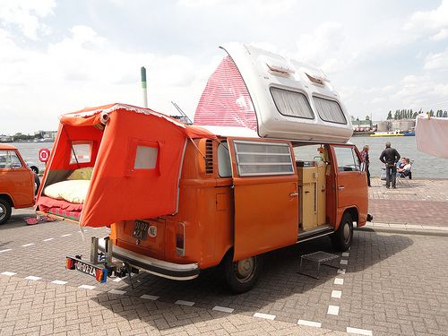 1973 VW T2 Camper ...would definitely camp if I had one of these!