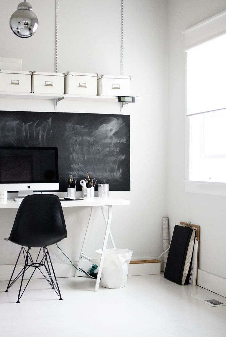 Simple Office / A Merry Mishap. Offices are the place where our concentration and creativity should be greater. That's why we need perfect spaces. They can be modern, vintage or even eclectic, but definitely have to be great. Find more decor tips, here: http://www.pinterest.com/delightfulll
