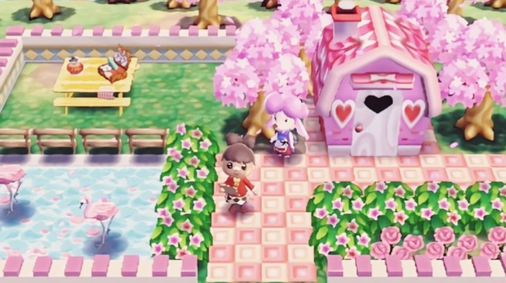 Poopbutts Crossing Harriet S Pink Garden Ac New Leaf Hhd Pinterest Pink Garden