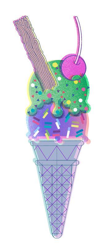 Riso graph illustration print
