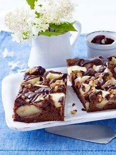 Brownie Apple Cake by wunderweib #Cake #Brownie #Apple