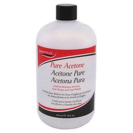 Super Nail Pure Acetone Polish Remover, 16 Oz, Multicolor