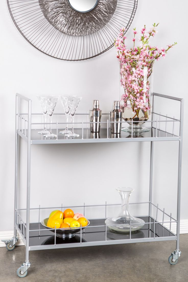 Carrie Silver Bar Cart by Statements by J on @HauteLook