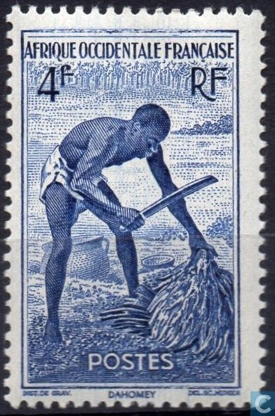 1947 AOF French West Africa - Palm Harvest
