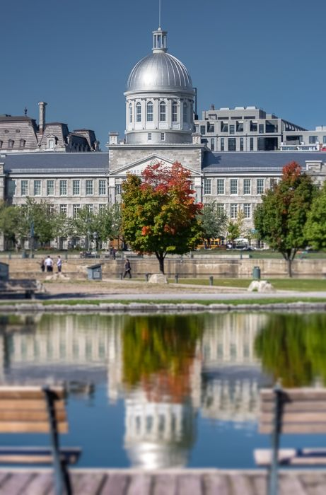 Montreal In Pictures   http://montrealinpictures.com Marché Bonsecours reflected in the Bassin Bonsecours